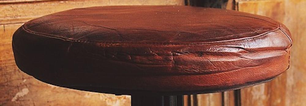 tabouret de bar en cuire